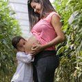 mamma incinta con primogenito
